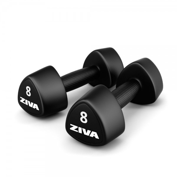 ZIVA® PERFORMANCE URETHANE TRIBELL STUDIO DUMBBELL (Pair)